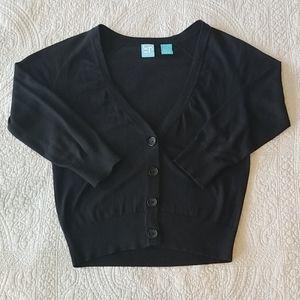 Barney's Coop cardigan, black, sz XS